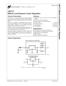 LM1117 800mA Low-Dropout Linear Regulator