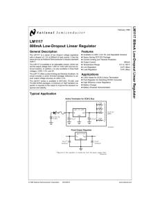 LM1117-ADJ ns régulateur LM1117-ADJ