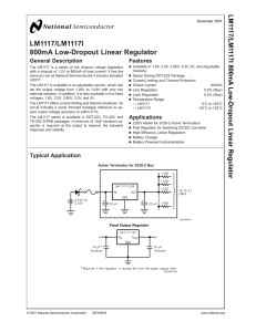 LM1117/LM1117I 800mA Low-Dropout Linear Regulator