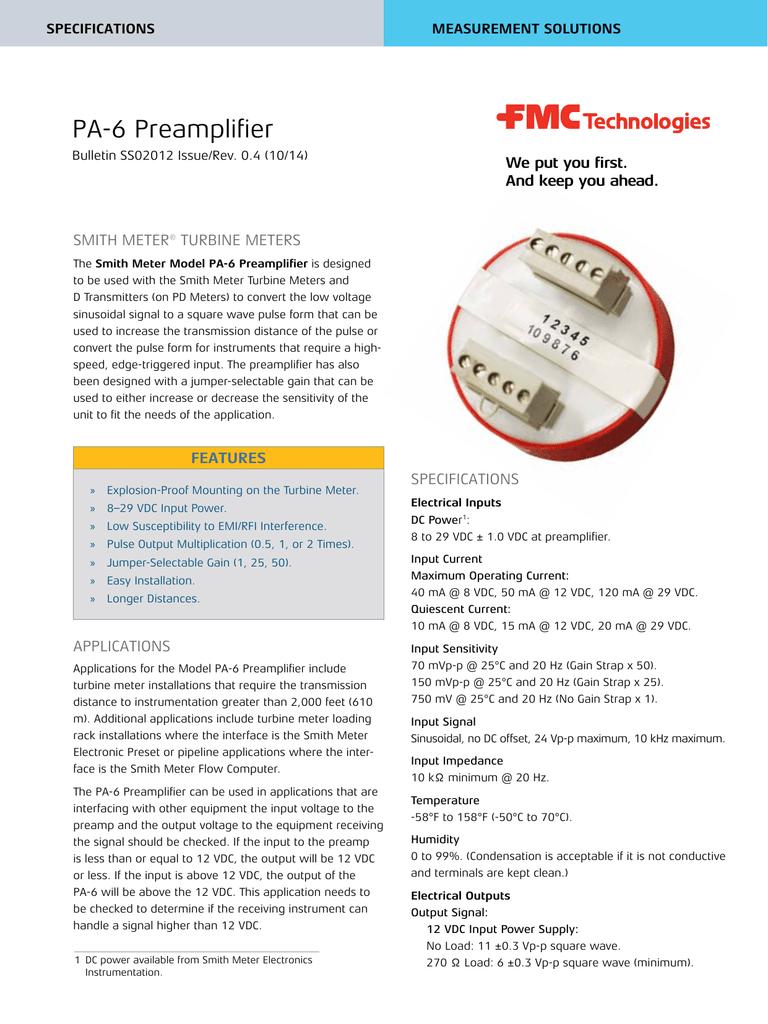 PA-6 Preamplifier - Measurement Solutions