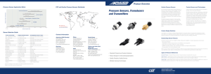 Pressure Sensors, Transducers and Transmitters