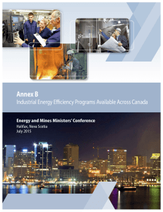 Industrial Energy Efficiency Programs Available Across Canada