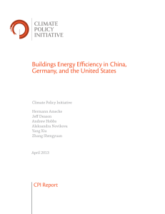 Buildings Energy Efficiency in China, Germany, and the United States