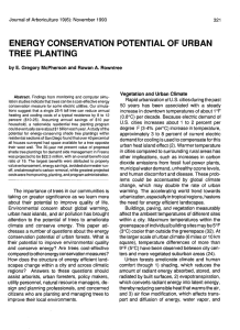 energy conservation potential of urban tree planting