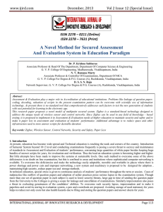 A Novel Method for Secured Assessment And Evaluation System in