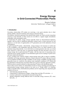Energy Storage in Grid-Connected Photovoltaic Plants