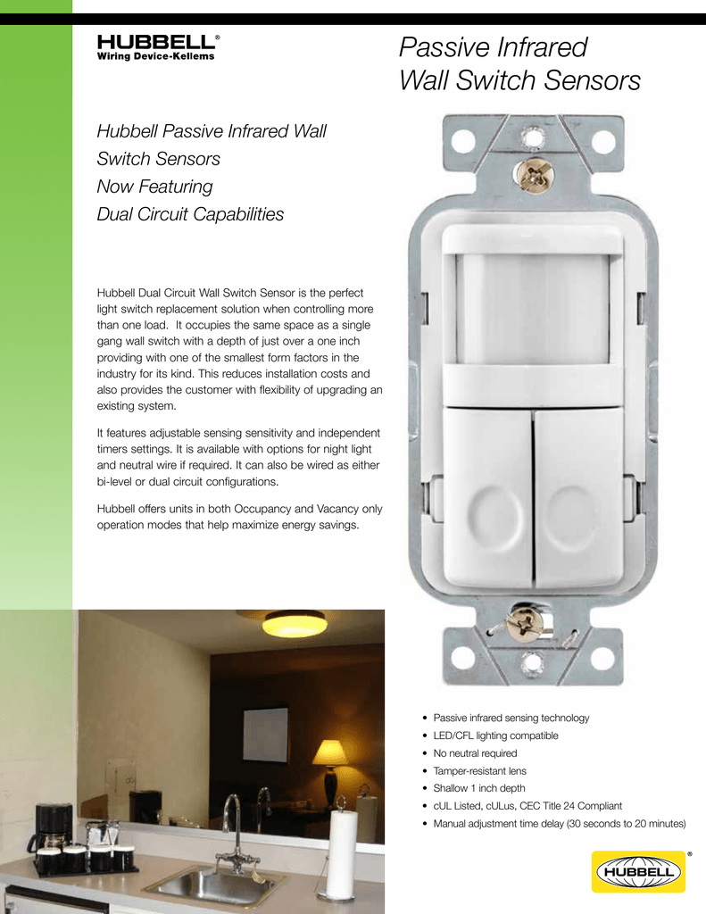 Passive Infrared Wall Switch Sensors