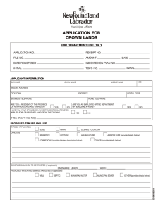 Application for Crown Lands