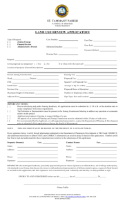 land use review application - St. Tammany Parish Government