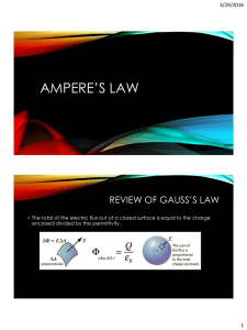Ampere`s law - Spring Branch ISD