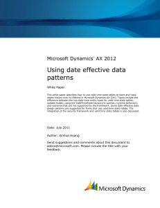 Using date effective data patterns
