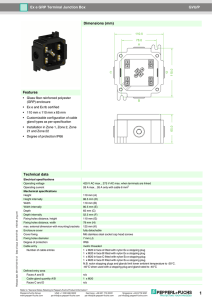 GVU/P Ex e GRP Terminal Junction Box Dimensions (mm