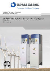 CGMCOSMOS Fully Gas-Insulated Modular System