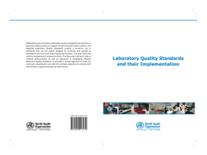 Laboratory Quality Standards and their