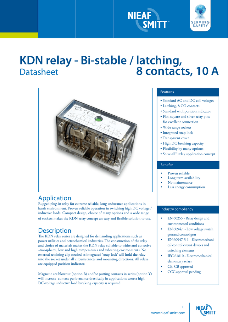 KDN Relay Bistable  Latching - Relay coil voltage tolerance