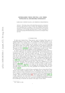 Generalized Thom spectra and their topological Hochschild homology