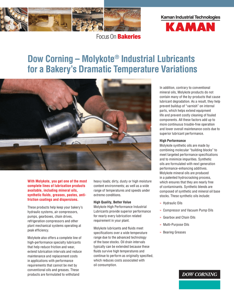 Dow Corning – Molykote® Industrial Lubricants for a Bakery`s