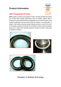 Pre-Greased Seal Product Information
