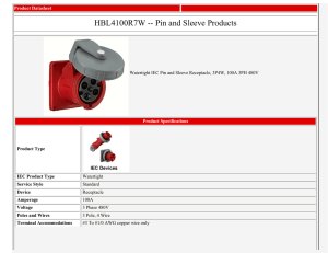 HBL4100R7W -- Pin and Sleeve Products