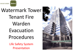 Watermark Tower Tenant Fire Warden Evacuation Procedures