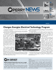 Changes Energize Electrical Technology Program