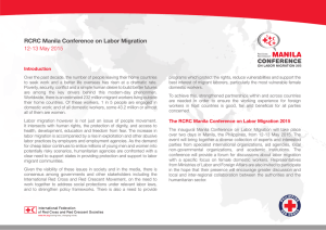RCRC Manila Conference on Labor Migration