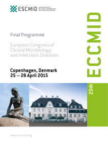 ECCMID Conference Programme