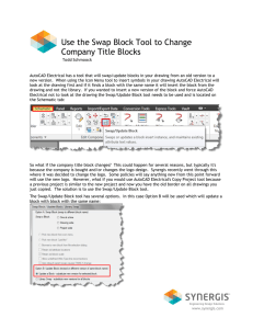 Use the Swap Block Tool to Change Company Title Blocks
