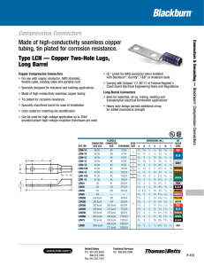 Compression Connectors Type LCN — Copper Two