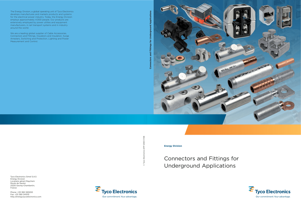 Connectors and Fittings for Underground Applications