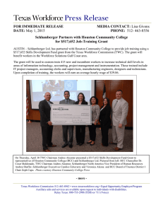 Schlumberger Partners with Houston Community College for