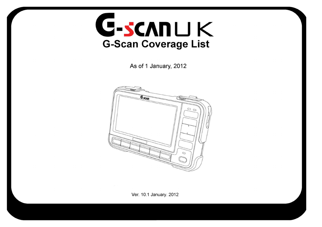 Gscan car and function list