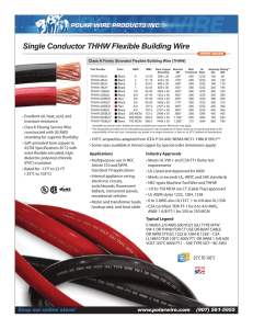 Single Conductor THHW Flexible Building Wire