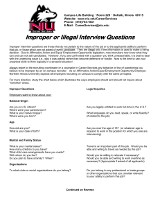 Illegal Questions handout - Northern Illinois University