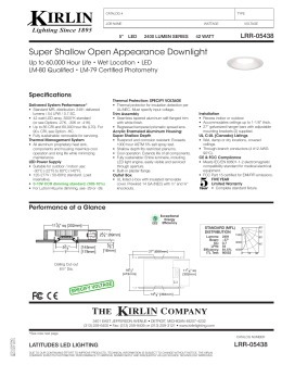 Super Shallow Open Appearance Downlight