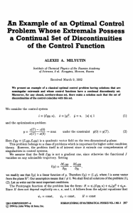 An Example of an Optimal Control Problem Whose Extremals