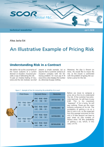 An Illustrative Example of Pricing Risk