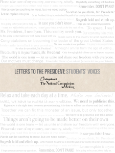 Letters to the President: Students` Voices