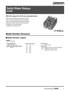 Solid State Relays G3NB