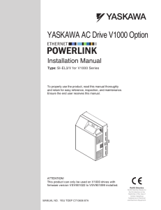 YASKAWA AC Drive V1000 Option