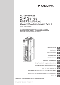 Sigma-5 Series User`s Manual - Yaskawa