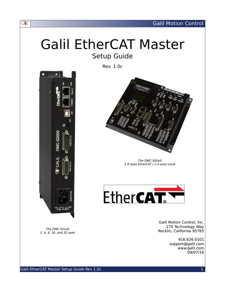 EtherCAT Master Setup Guide