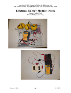 ElectricEnergyModuleNotes - Western Michigan University
