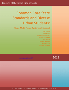 Common Core State Standards and Diverse Urban Students: Using