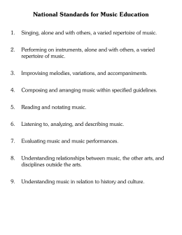 National Standards for Music Education - Lyons
