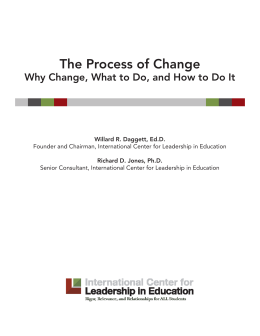 The Process of Change – Why Change, What to Do, and How to Do It