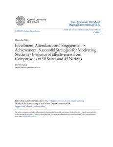 Enrollment, Attendance and Engagement → Achievement