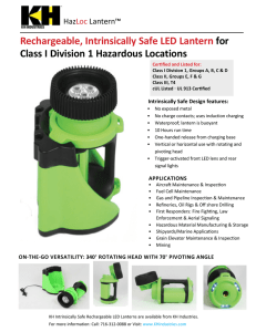 Explosion Proof HazLoc Lantern Specification Sheet