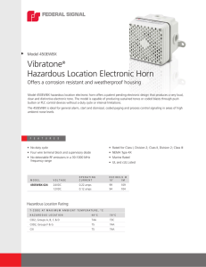 Vibratone® Hazardous Location Electronic Horn
