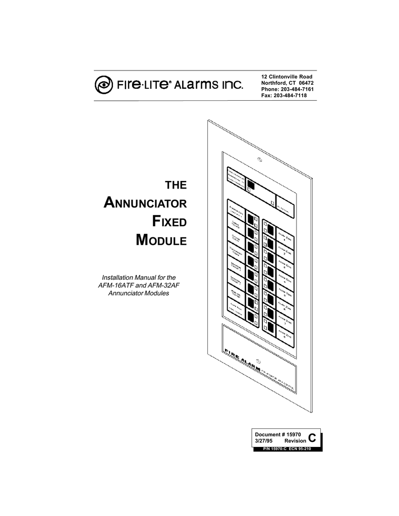 Manual 15970 Fire Lite Alarms By Honeywell Signaling Line Circuit Wiring Firelite